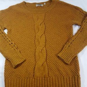 Ecote Anthropologie Mustard Knit Sweater